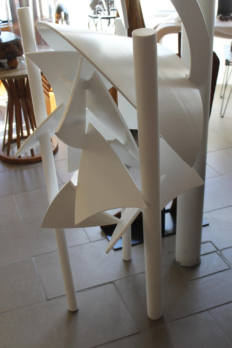 Steel Abstract Sculpture, 1979 In Good Condition For Sale In Palm Springs, CA