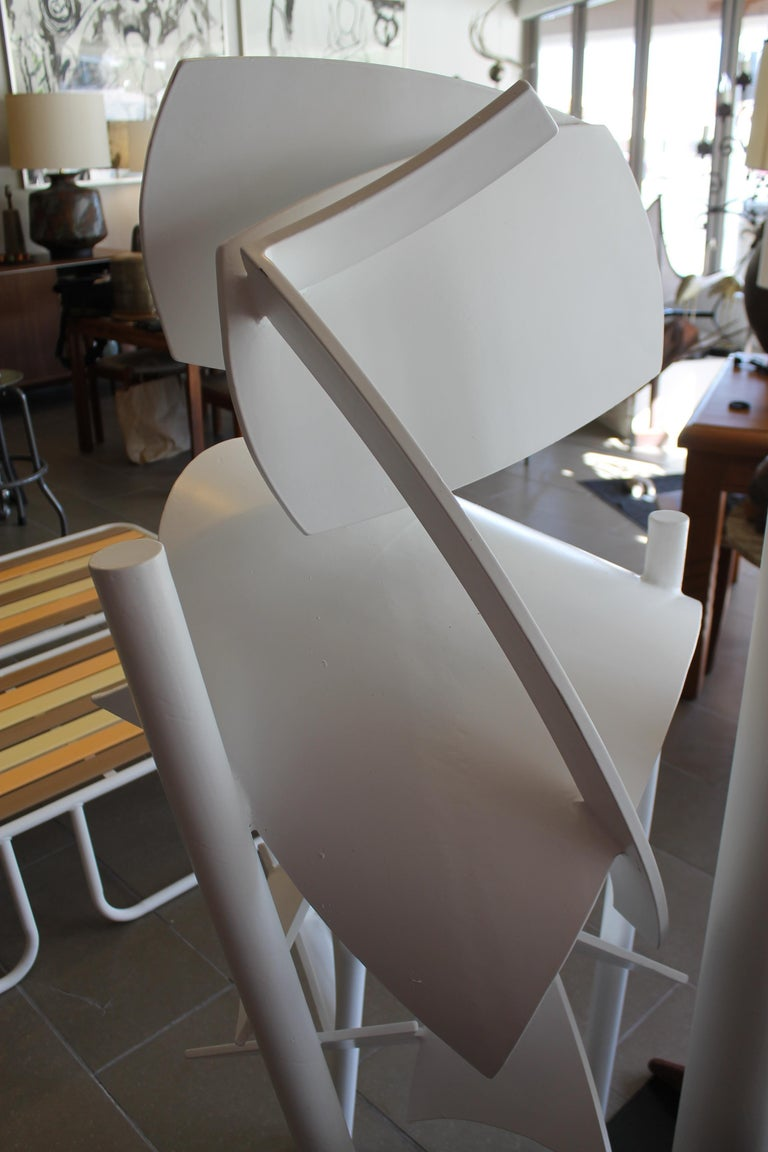 Late 20th Century Steel Abstract Sculpture, 1979 For Sale