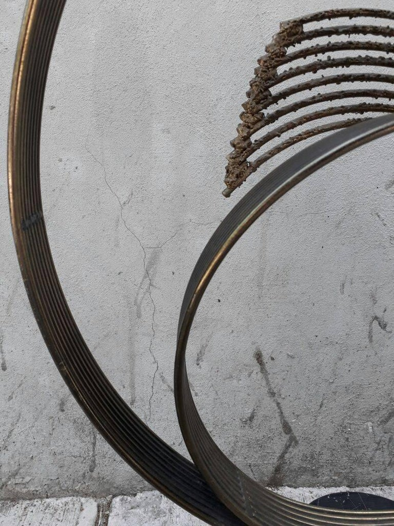 Steel and Brass Abstract Sculpture by Curtis Jere In Good Condition For Sale In Mexico City, MX