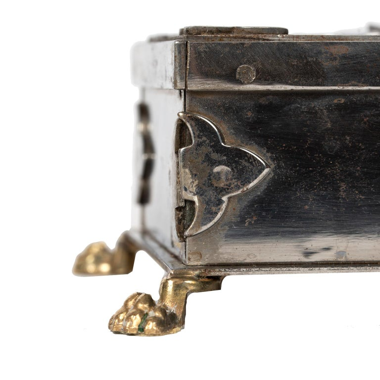 Steel and Brass Document Box, Italy, circa 1970 For Sale 3