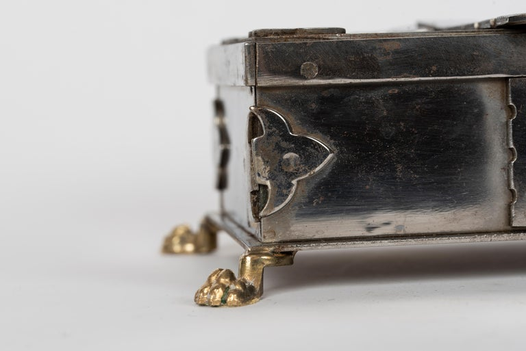 Steel and Brass Document Box, Italy, circa 1970 For Sale 4