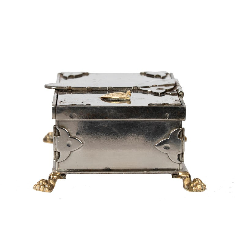 Steel and Brass Document Box, Italy, circa 1970 In Good Condition For Sale In Toronto, ON