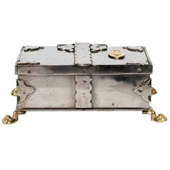 Steel and Brass Document Box, Italy, circa 1970