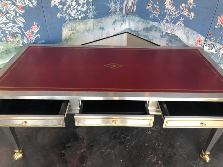 American Steel and Bronze Dore Desk by John Vesey For Sale
