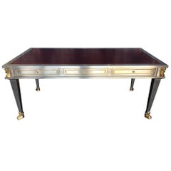 Steel and Bronze Dore Desk by John Vesey