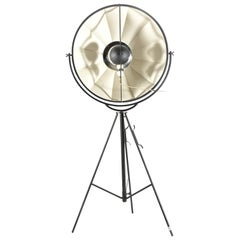 """Steel and Cotton Studio Photographer Lamp """"Moda"""" by Mariano Fortuny"""
