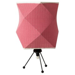 Steel and Fabric Table Lamp by Hans Bergström for Ateljé Lyktan, Sweden, 1950s