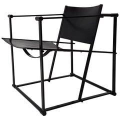 Steel and Leather FM62 Chair by Radboud Van Beekum for Pastoe, 1980s