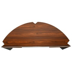 "Steel and Rosewood ""Mezzaluna"" Desk by Leon Rosen for Pace Collection, 1970s"