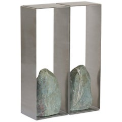 Steel and Stone Console Table by Batten and Kamp