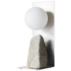 Steel and Stone Table Lamp Batten and Kamp Minimalist