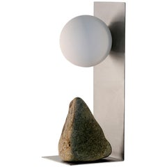 Steel and Stone Table Lamp by Batten and Kamp
