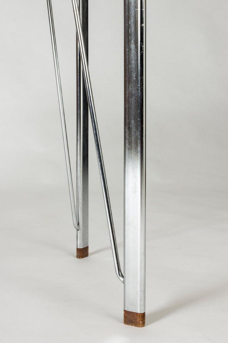 Steel and Teak Desk by Arne Jacobsen for Fritz Hansen. Denmark, 1960s In Good Condition For Sale In Stockholm, SE