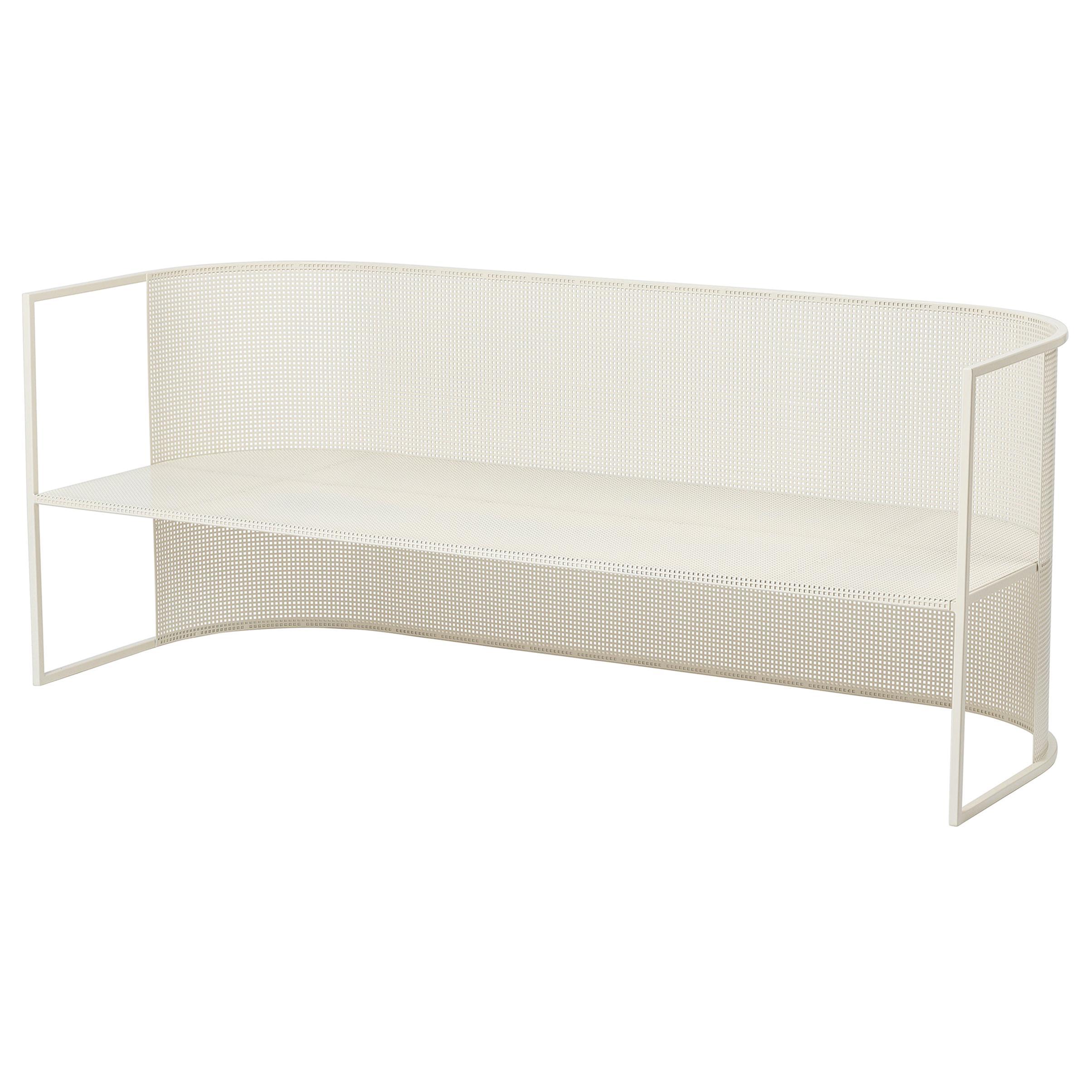 Steel Bahaus Lounge Bench by Kristina Dam Studio