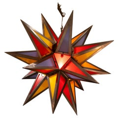 Steel Bakelite Star Pendant Lights