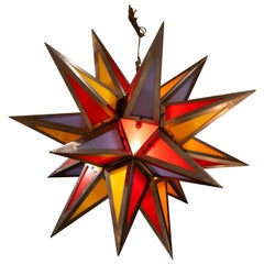 Steel Bakelite Star Pendant Lights