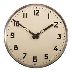 Steel Bauhaus Wall Clock