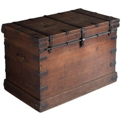 Steel Bound Oak Chest, England, circa 1880