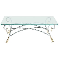 Steel & Brass Low Table