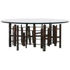Steel Brutalist Cocktail Table