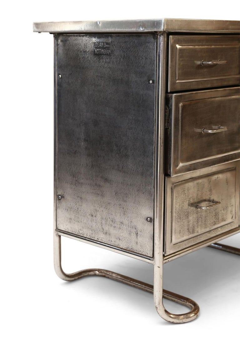 Industrial Steel Chest of Drawers For Sale