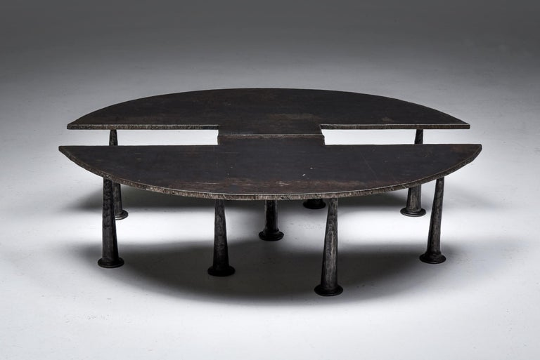 Brutalist Steel Coffee Table 'Resourcer 1' by Thomas Serruys For Sale