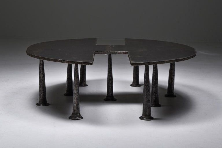 Belgian Steel Coffee Table 'Resourcer 1' by Thomas Serruys For Sale
