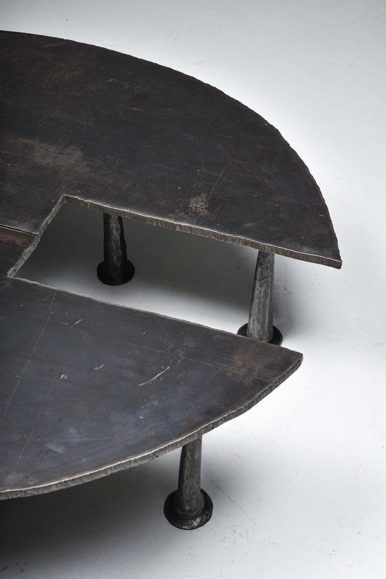 Steel Coffee Table 'Resourcer 1' by Thomas Serruys For Sale 1