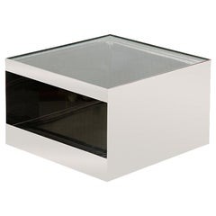 1970s Steel Cube-Form End or Low Table by Joe d'Urso for Knoll