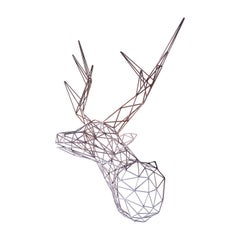 Steel Deer Sculpture