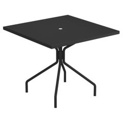 Steel EMU 4 Seats Solid Square Table