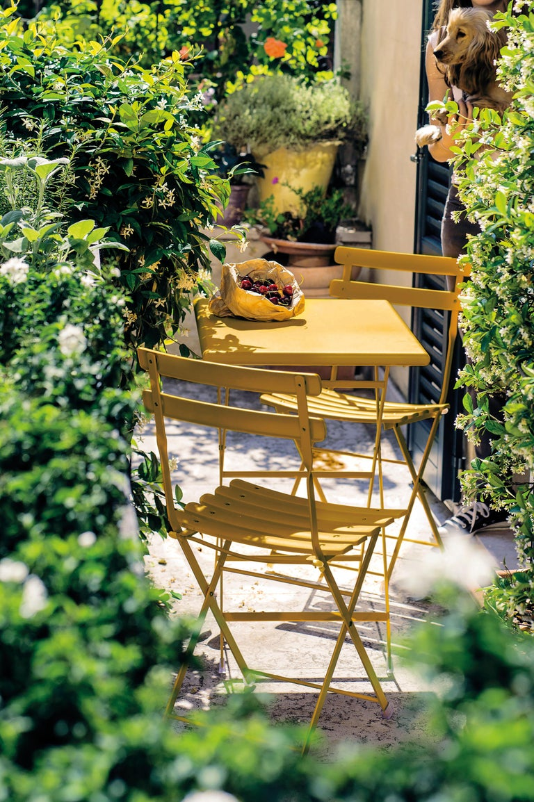 Contemporary Steel Emu Arc en ciel 4 Seats Folding Rectangular Table For Sale