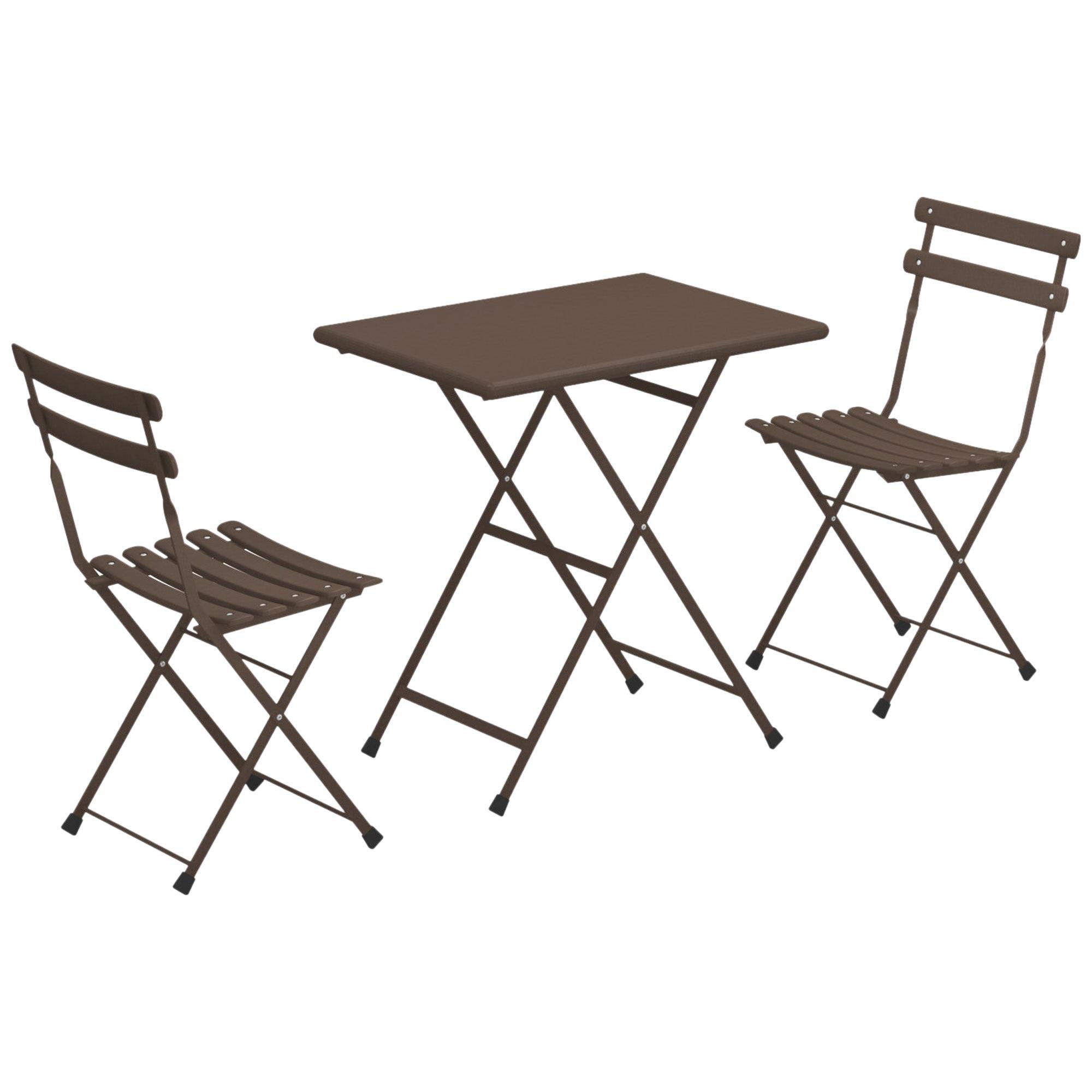 Steel EMU Arc en ciel - Set 2 folding chairs 1 folding table
