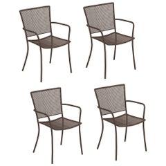 Steel EMU Athena Armchair, Set of 4 Items