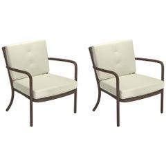 Steel EMU Athena Lounge Chair, Set of 2 Items