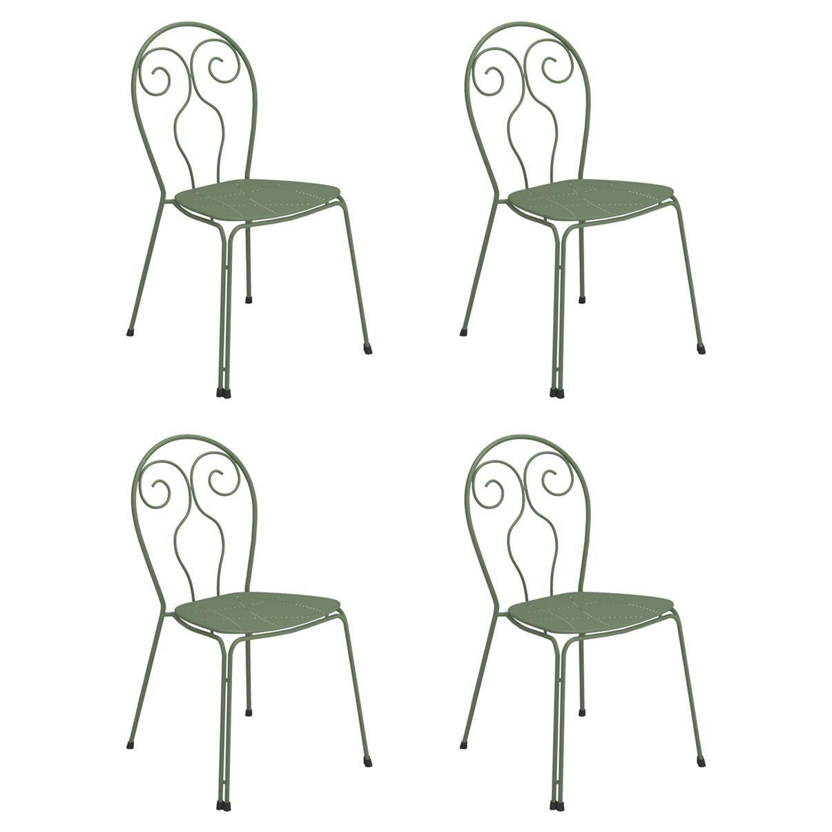 Steel EMU Caprera Chair, Set of 4 Items