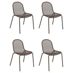 Steel EMU Nova Chair, Set of 4 Items