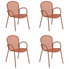 Steel EMU Ronda XS Armchair, Set of 4 Items