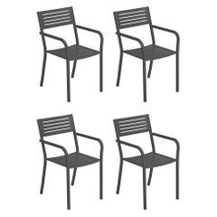 Steel EMU Segno Armchair, Set of 4 Items