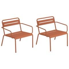Steel EMU Star Lounge Chair, Set of 2 Items