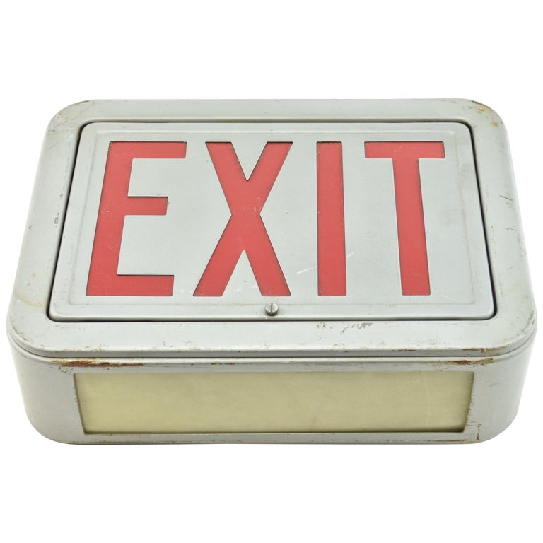 Steel Exit Sign, Quantity Available For Sale
