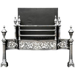 Steel Fire Grate in the Manner of Thomas Chippendale
