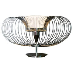 Steel Flower T Table Lamp by Roberto Lazzeroni