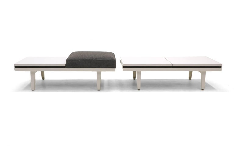 Steel Frame Sofa Bench And Coffee Table By George Nelson