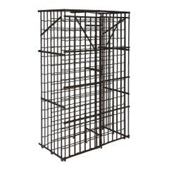 Steel French Antique Wine Cabinet