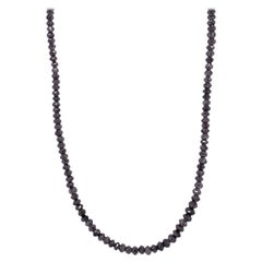 Steel Grey Diamond Necklace with White Gold Clasp