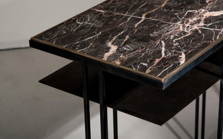 Steel Handcrafted Console Signed by Novocastrian For Sale 5