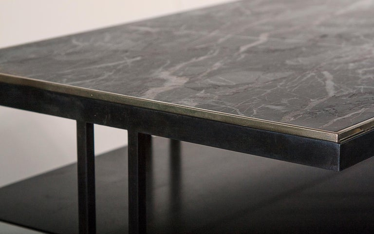 Modern Steel Handcrafted Console Signed by Novocastrian For Sale