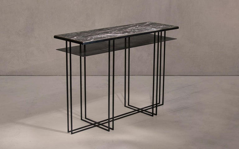 Contemporary Steel Handcrafted Console Signed by Novocastrian For Sale