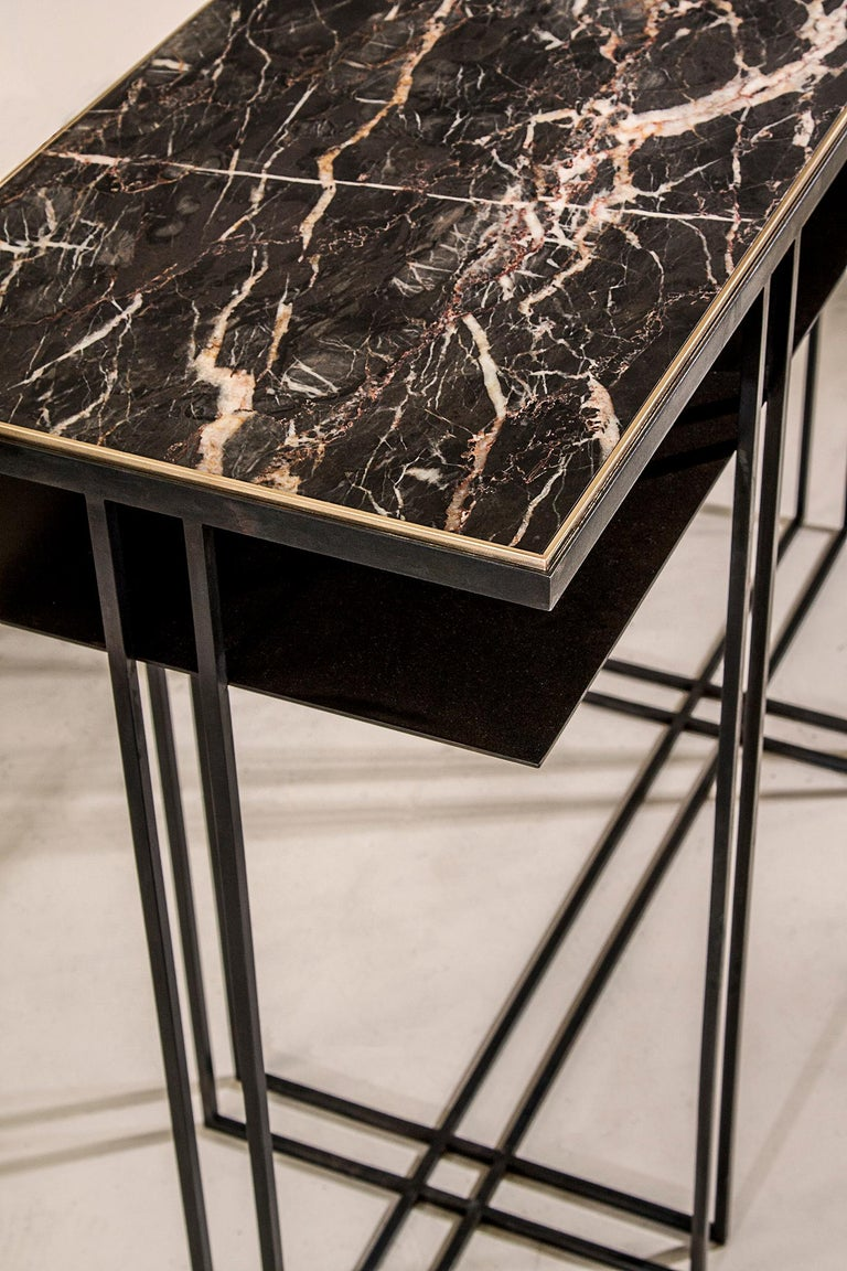 Steel Handcrafted Console Signed by Novocastrian For Sale 1
